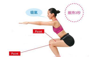 双手平举向前,双脚打开至比肩膀略宽的宽度.图片